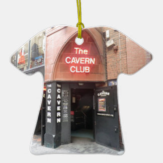 The Cavern Club in Liverpool's Mathew Street Double-Sided T-Shirt Ceramic Christmas Ornament