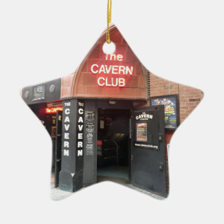 The Cavern Club in Liverpool's Mathew Street Double-Sided Star Ceramic Christmas Ornament