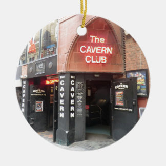 The Cavern Club in Liverpool's Mathew Street Round Ceramic Decoration