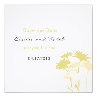 The Cecilia Save the Date 13 Cm X 13 Cm Square Invitation Card