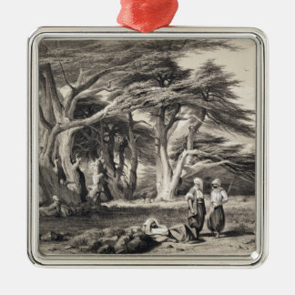 The Cedars of Lebanon, engraved by Freeman (sepia Christmas Ornament