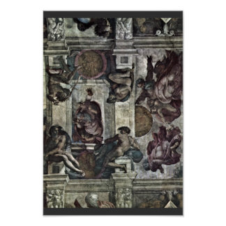The Ceiling Fresco In The Sistine Chapel Genesis M Print