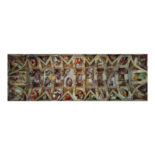 The Ceiling of the Sistine Chapel Poster