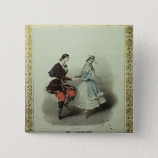 The Celebrated Polka, song sheet, 1840 15 Cm Square Badge