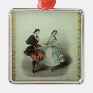 The Celebrated Polka, song sheet, 1840 Silver-Colored Square Decoration