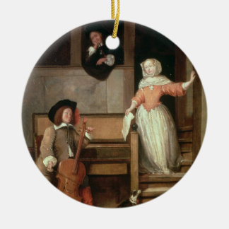 The Cello Player, c.1700 (oil on canvas) Christmas Ornament