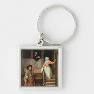 The Cello Player, c.1700 (oil on canvas) Key Ring