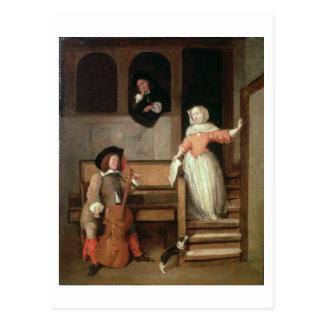 The Cello Player, c.1700 (oil on canvas) Postcard