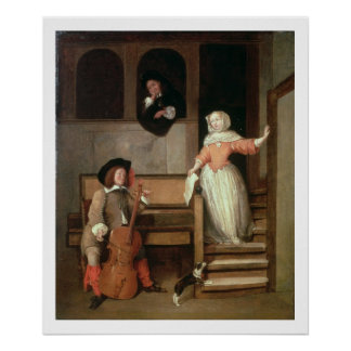 The Cello Player, c.1700 (oil on canvas) Poster