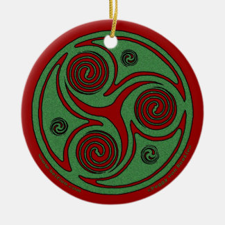 The Celtic Christmas Spiral Ornament