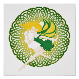 The Celtic Wish Fairy Posters