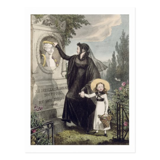The Cemetery of Pere Lachaise, printed by Charles Postcard