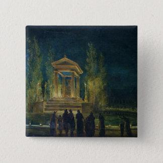 The Cenotaph of Jean Jacques Rousseau 15 Cm Square Badge