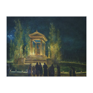 The Cenotaph of Jean Jacques Rousseau Canvas Print