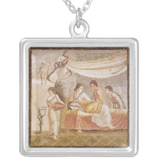 The Centocelle Mosaic Silver Plated Necklace