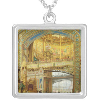 The Central Dome of the Universal Exhibition Silver Plated Necklace