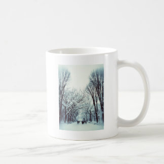 The Central Park Mall In Winter Coffee Mug
