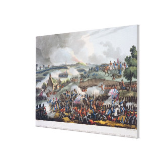 The Centre of the British Army in Action at the Ba Canvas Print