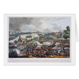 The Centre of the British Army in Action at the Ba Greeting Card