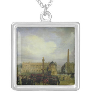 The Ceremony for the Return of Napoleon's Ashes Silver Plated Necklace