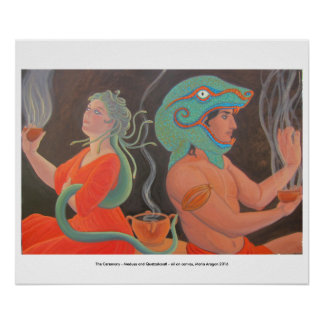 The Ceremony - Medusa and Quetzalcoatl Poster