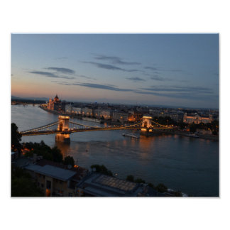The Chain Bridge of Budapest Poster