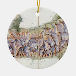 The Chain of Mont Blanc, from an actual survey in Christmas Ornament