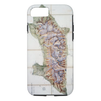 The Chain of Mont Blanc, from an actual survey in iPhone 8/7 Case