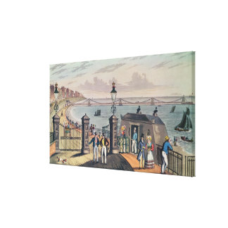 The Chain Pier on the front at Brighton Canvas Print