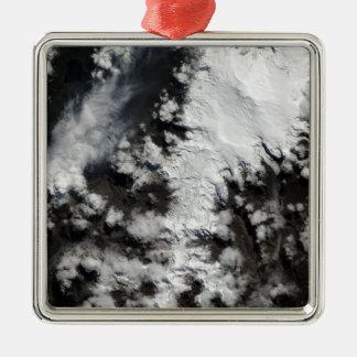 The Chaiten Volcano in Chile Silver-Colored Square Decoration
