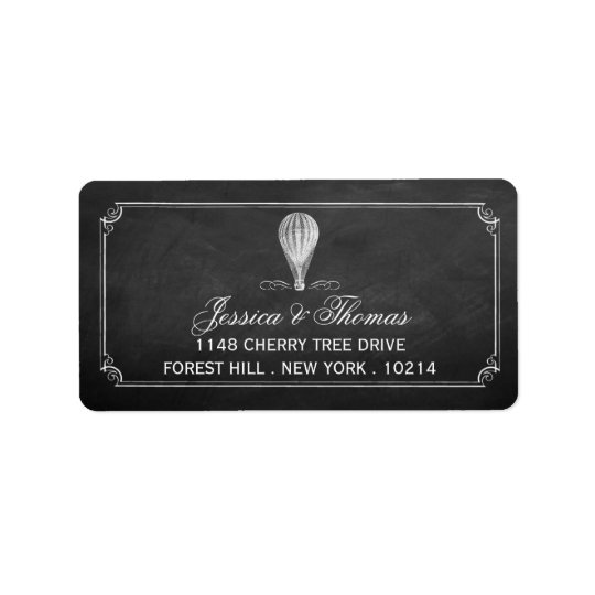 The Chalkboard Hot Air Balloon Wedding Collection Label