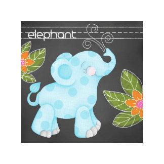 The Chalkboard Jungle: Elephant Canvas Print