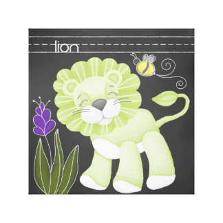 The Chalkboard Jungle: Lion Canvas Print