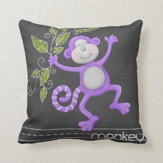 The Chalkboard Jungle - Monkey Pillow