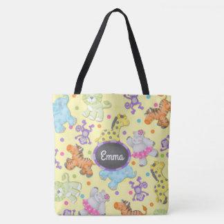 """The Chalkboard Jungle"" Personalized Diaper Bag"
