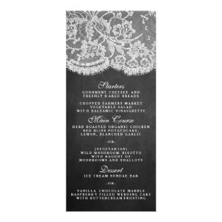 The Chalkboard & Lace Collection Menu Templates Rack Card Design