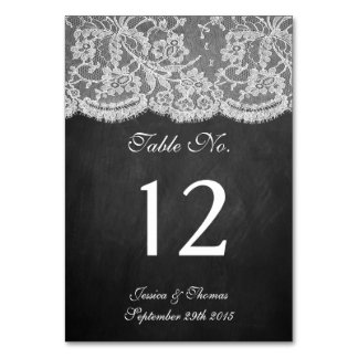The Chalkboard & Lace Collection Table Cards