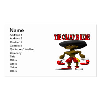The Champ Is Here 2 Pack Of Standard Business Cards