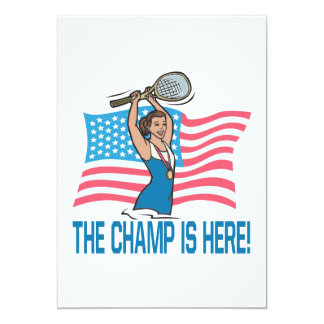 "The Champ Is Here 5"" X 7"" Invitation Card"