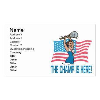 The Champ Is Here Pack Of Standard Business Cards