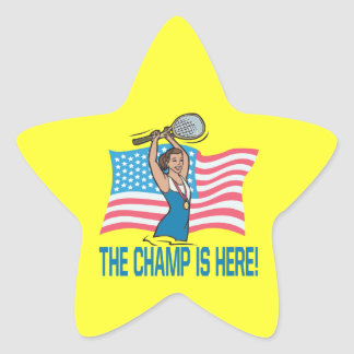 The Champ Is Here Star Sticker