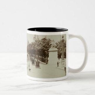 The Champs Elysees, Paris (sepia photo) Two-Tone Coffee Mug