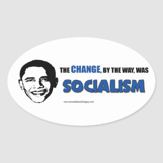 The Change, By the Way- Oval Sticker