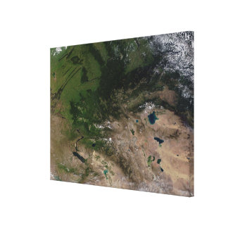 The change in vegetation canvas print