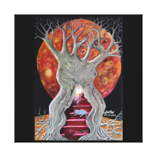 The Changing Goddess under the Wiccan Moon Canvas Print