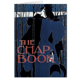 The Chap-Book ~ Blue Lady Greeting Card
