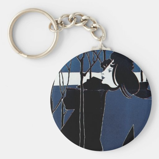 The Chap-Book ~ Blue Lady Key Chains