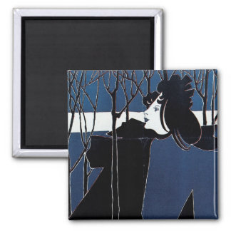 The Chap-Book ~ Blue Lady Square Magnet