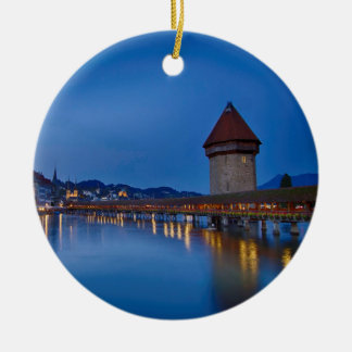The Chapel Bridge in Lucerne Christmas Ornament