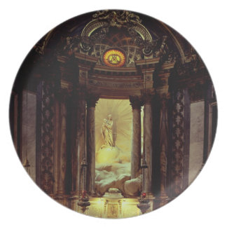 The Chapel of the Virgin, 1770's (photo) Party Plate